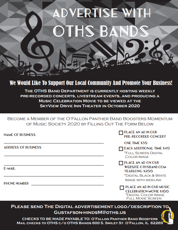 Advertise with OTHS Band
